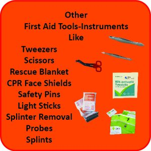 Other First Aid Instruments and Tools